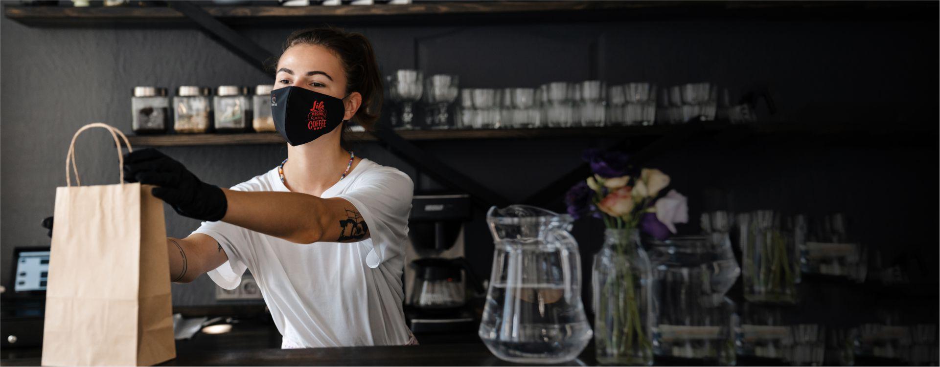 μάσκα προστασίας με εκτύπωση