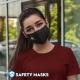Εκτύπωση λογοτύπου σε υφασμάτινη μάσκα