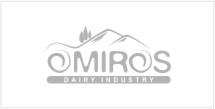Omiros dairy industry logo